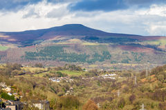 South Wales view towards the Sugar Loaf hill. Monmouthshire. Royalty Free Stock Photography