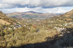 South Wales view towards the Sugar Loaf hill. Monmouthshire. Royalty Free Stock Photo