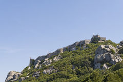South wall of Moorish Castle Royalty Free Stock Images