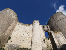 South walls and entrance to Loches fortification. Loches Town was fortified in the IXth century, and occupied by the english during the XIIth century Stock Photography