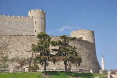Kale fortress - south walls, Skopje Stock Photos