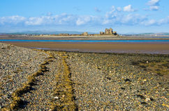 South Walney beach and Piel Island Royalty Free Stock Images