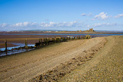 South Walney beach and Piel Island Royalty Free Stock Photos