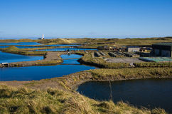 South Walney Oyster Farm Stock Image