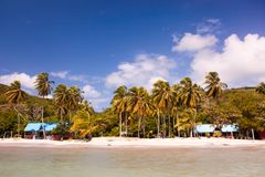 South west beach in providence island in a sunny and beautiful day stock image