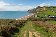 South west coast path Eype Dorset England uk Royalty Free Stock Photography