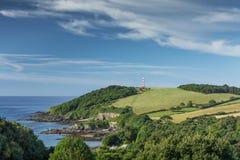 South West Coast Path, Gribbin Head, Cornwall, UK royalty free stock image