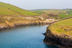 South West coast path near Port Quin Cornwall Royalty Free Stock Photo