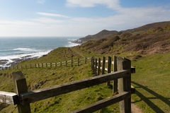 South West Coast Path Woolacombe Devon Stock Images