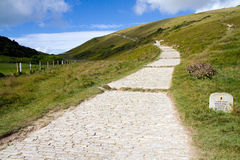 South-West coastal path Lulworth Cove Durdle Door Stock Photos