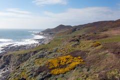 South West Coastal Path Woolacombe Devon stock images