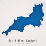 South West England Art Map Royalty Free Stock Images