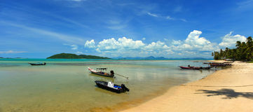 South West Koh Samui. A view from the south west coast of Koh Samui in the Gulf of Thailand royalty free stock photos