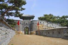 South-West Secret Gate of Sunwon hwaseong Stock Photo