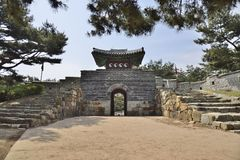 South-West Secret Gate of Sunwon hwaseong Royalty Free Stock Photo