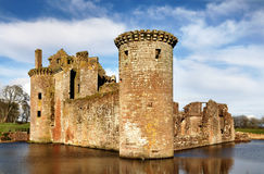 South west tower at Caerlaverock Castle Royalty Free Stock Photography