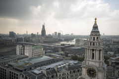 South West view of London England. South West View of London from the Dome of St Pauls Cathedral London England Royalty Free Stock Photography