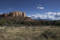 Southwestern high desert landscape daytime. South western high desert landscape at ghost ranch in New Mexico stock image