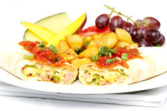 South western omelette Stock Photography