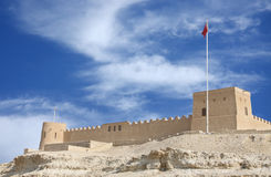 South western wall of Riffa fort Bahrain Royalty Free Stock Photo