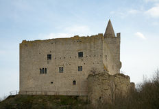 South-western wall of Rudelsburg castle, Germany Stock Photography
