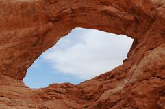South Window Natural Arch. In Arches National Park Stock Photo