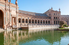 South wing of the Plaza de Espana building Stock Photography