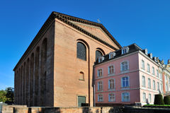 South wing of Prince-electors Palace in Trier, Germany. South wing of Prince-electors Palace and Roman basillica in Trier, Germany Stock Photos