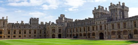 South Wing of the Upper Ward and inner square for official ceremonies in Windsor Castle. England stock photo