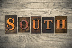 South Wooden Letterpress Theme Royalty Free Stock Images