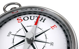 South word indicated by compass Royalty Free Stock Images