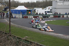 South Yorkshire Kart Club SYKC Race Meeting on 12th March 2017 Royalty Free Stock Photo