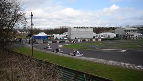 South Yorkshire Kart club Wombwell 12 marzo 2017 stock footage