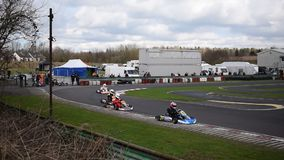 South Yorkshire Kart Club Wombwell 12th March 2017 stock video footage