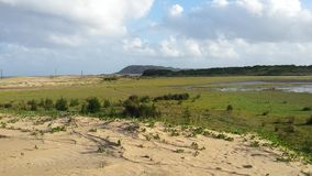 Southafrican wieś z jeziorem Zdjęcia Royalty Free