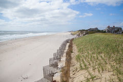 Southampton beach, Long Island, New York. Cloudy and windy day at Southampton beach, Long Island, New York Stock Images