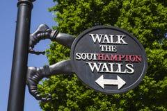 Southampton City Walls Sign Royalty Free Stock Photos