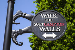 Southampton City Walls Sign Stock Photo