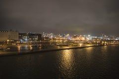 Southampton an der Dämmerung lizenzfreie stockbilder