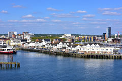 Southampton England. View of Southampton England and piers royalty free stock photo