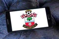 Southampton FC soccer club logo. Logo of english Southampton FC soccer club on samsung mobile Stock Photography