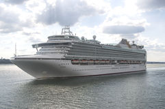 SOUTHAMPTON - JULY 13, 2014: Azura just leaving Southampton dock Stock Photo