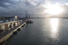 Southampton mette in bacino il Regno Unito Fotografie Stock Libere da Diritti