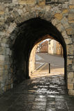 Archway in Southampton old city walls. An archway leading through the historic old city walls of Southampton, Hampshire, England stock photography