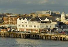 Southampton pir i England Fotografering för Bildbyråer