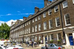 Southampton place in Borough of Camden at Central London Royalty Free Stock Photo