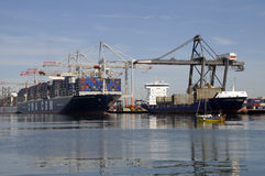 Southampton shipping container terminal UK Royalty Free Stock Photo