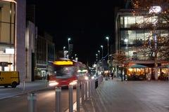 Southampton straat in de avond stock foto's