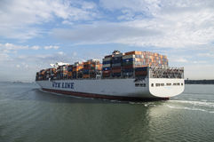 SOUTHAMPTON, UK - JULY 11, 2014 - NYK HURCULES, HONG KONG - Cont Royalty Free Stock Photo