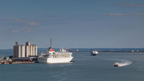 Southampton Water. One of many cruiser terminals at Southampton, England Stock Photography